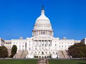 The western front of the United States Capitol. The Capitol serves as the seat of government for the United States Congress, the legislative branch of the U.S. federal government. It is located in Washington, D.C., on top of Capitol Hill at the east end o