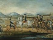 October 14: Washington reviews the army assembled against the Whiskey Rebellion