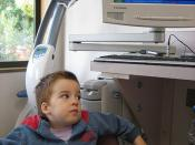 Aaron reviewing his x-ray
