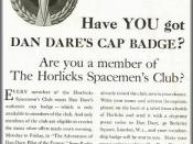 This ad for the Dan Dare pilot of the future serial appeared in the 208 magazine in March 1952