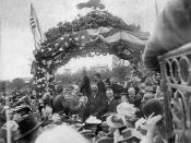 President Harrison visits Santa Ana, 1891