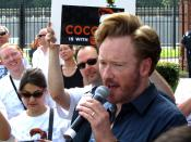 The welcoming party for Coco at TBS (Conan O'Brien). It was hot and he was awesome!