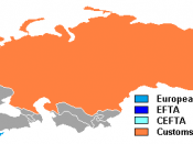 English: Economical blocs in Europe