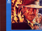 North American arcade flyer of Indiana Jones and the Temple of Doom.