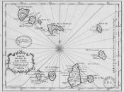 map of the islands of Cape Verde Français : Carte des isles du Cap Verd