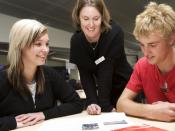 English: Students working with a teacher at Albany Senior High School, New Zealand.