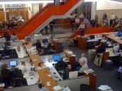 English: A speech in The New York Times newsroom after the announcement of the 2009 Pulitzer Prize winners