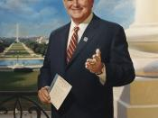 English: Former U.S. Representative and Speaker of the House Newt Gingrich (R-GA). Oil on canvas.