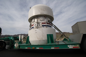 English: Nuclear Waste Container coming out of Nevada Test Site on public roads, March 2010