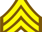English: Brown and gold sergeant stripes for use in law enforcement articles