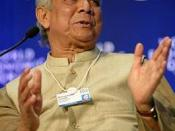 DAVOS-KLOSTERS/SWITZERLAND, 31JAN09 - Muhammad Yunus, Managing Director, Grameen Bank, Bangladesh, speaks during the session 'The Girl Effect on Development' at the Annual Meeting 2009 of the World Economic Forum in Davos, Switzerland, January 31, 2009 Co