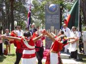 English: International Mother Language Day Monument, Ashfield Park, Sydney