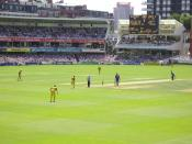 England against Australia in a One-day International at Lord's Cricket Ground, 10th July 2005.