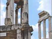 Le temple de Vesta et le temple des Dioscures (Forum Romain)