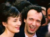 Français : Roberto Benigni et Nicoletta Braschi au festival de Cannes