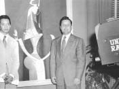 English: Carbonell was the host and interviewer for a weekly television program in Havana, Cuba, where he interviewed artist as his topic of discussion, to include Wifredo Lam amongst others