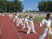 English: JJS Karate Kids during the playground demonstration at Panaad Stadium in Bacolod City