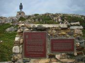 English: Monument to John Cabot's Landfall in the New World in 1497, Cape Bonavista, Bonavista Peninsula, Eastern Newfoundland, Canada. Français : Monument pour L'Arrivée de Jean Cabot au Nouveau-Monde en 1497, Cap Bonavista, Péninsule Bonavista, Est de T