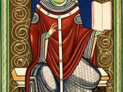 English: Gregory I became pope in 590 and effected great changes in the Roman Catholic church. He used the office to govern and provide pastoral care to a large area during a time of little civil administration. He also reformed church liturgy, introducin