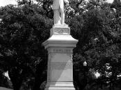 Dick Dowling Statue, Hermann Park, Houston, Texas 0429101141BW