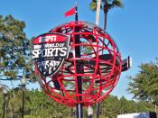English: This is the globe statuary at the entrance of the ESPN Wide World of Sports Complex at Walt Disney World Resort, Orlando, Florida, United States.