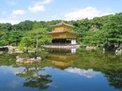 Garden of Kinkaku-ji in Kyoto (Art of Miyabi, Kitayama Bunka).