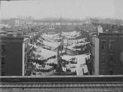 Yard of a tenement at Park Ave. [Avenue] and 107th St., New York