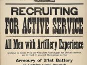 Proclamation : G. R. : recruiting for active service