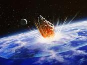 collision d'une comète sur la terre
