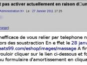 English: French bank account phishing attempt.