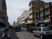 Looking north from near the clocktower along Jalan Temenggong in Kota Bharu