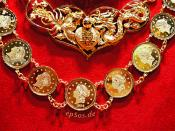 Gold Jewelry Necklace with Golden Coins