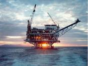 English: Photograph of Platform Gail, Sockeye Offshore Oil Field, near Santa Barbara, California