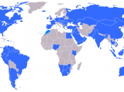 English: In blue: Countries currently with KFC restaurants Português: em azul:Países onde há restaurantes da rede KFC