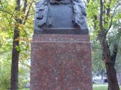 Bust of George Călinescu in the Alley of Classics of Chişinău.