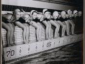 Eight female swimmers, members of the Ottawa