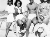 Maroc, années 1950, plage