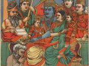 English: Rama's coronation: Rama depicted with Sita and with their sons and his brothers and Hanuman