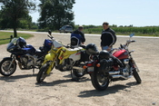 Yamaha, Suzuki dual-sport and, Honda Magna