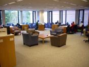 Photograph of the Feldberg Business & Engineering Library at the Tuck School of Business/Thayer School of Engineering at Dartmouth College in Hanover, New Hampshire.