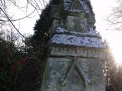 The Lodge on the corner of Moor Green Lane and Yew Tree Road - Gate Post with that symbol