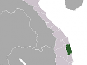 Location of Binh Dinh Province within Vietnam