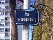 English: Romania Street in Rennes, France Română: Strada