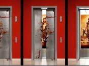 Español: publicidad en elevadores tanto en interiores como en exteriores que pueden comunicar muchos productos.