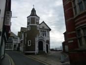 English: Lyme Regis - Guildhall A Guildhall has stood on this site since Elizabethan times.