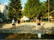 Annual beach volley ball tournament.