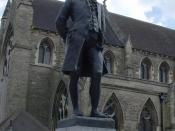 Statue of James Boswell in Lichfield's Market Square
