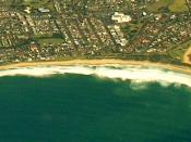 English: Aerial photo of Warilla near Wollongong NSW