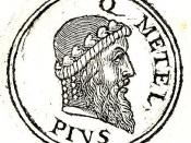 English: Quintus Caecilius Metellus Pius (ca 130 BC or 127 BC – 63 BC) was a pro-Sullan state figure.