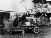 Passengers on the Jundah Mail Transport by Cobb & Co., Longreach, Queensland, ca. 1920